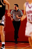 Referee Running in Basketball Game