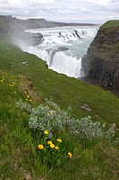 waterfall Gullfoss, at Hvita river, Iceland