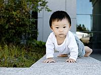 Baby Crawling on Wall