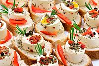 Cheese canape