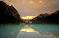 Sunrise, Lake Louise, Banff National Park, Alberta, Canada.