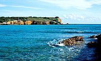 Rocky headland off Puerto Rico