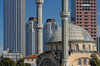 Business towers and Levent Mosque, Turkey, Istanbul