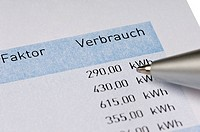 energy costs billing procedure, Germany