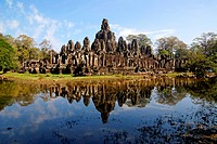 Temples in Angkor Thom, the ancient capital of the Khmer people, Cambodia, Siem Reap