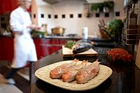 Prepared Fishes in Kitchen