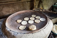Comal with tortillas