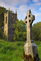 Ruins of church, and old graveyard at Churchtown Cross, Loughnavalley, County Westmeath, Ireland