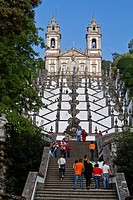 Bom Jesus do Monte Sanctuary in Braga, Portugal  One of the famous Portuguese sanctuaries  Baroque architecture
