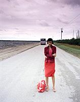 Woman on a Country Road