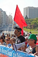 Demonstration against the IMF, the Troika, the Austerity Plan and for the defense of employment, salaries and pensions  Oct , 1st, 2011, Lisbon, Portu...