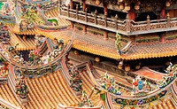 Chinese roof surround temple
