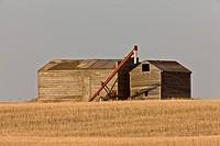 Farm Granary Prairie Canada Auger