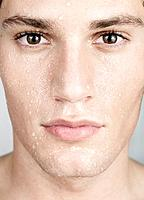 Young Man with Wet Face