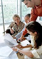 Businesspeople Examining Paperwork