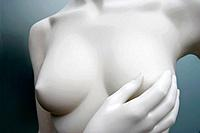 Mannequin Doing Self Breast Examination