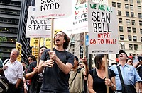 September 30, 2011, Downtown Manhattan, Wall Street financial area vicinity, Occupy Wall Street is an ongoing series of demonstrations in New York Cit...
