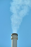 smoking chimney of a brown coal power station