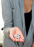 dice on hand