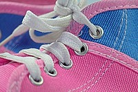 close up of a shoestring