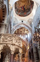 Italy, Tuscany, Pisa, Cathedral Interior View, Pulpit Giovanni Pisano Artist