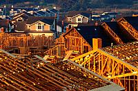 Suburban Homes Under Construction