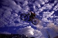 Biker in Mid Jump