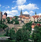 geography / travel, Germany, Saxony, Bautzen, city views, cityscape view from the Friedensbruecke towards the town, historical, historic, ancient wate...