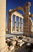 Great Colonnade and Monumental Arch  palmyra, Syria  The spine of ancient Palmyra was a stately colonnaded avenue stretching be- tween the city&#8217;s main...