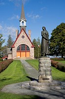 Acadian Church & Evangeline Statue, Grand Pre, Nova Scotia