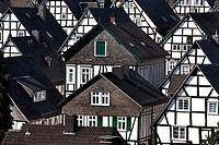 Alter Flecken, historical city of Freudenberg, Germany, North Rhine_Westphalia, Siegerland, Freudenberg