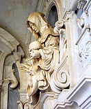 Sculpture in interior of Church Certosa di San Martino 18th century, sculptures by Fanzago, Naples, Italy