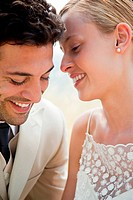 Newlyweds, close up portrait (thumbnail)