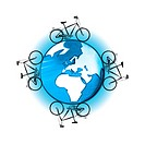 Bicycles cycling globe