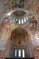 geography / travel, Georgia, the Caucasus Mountains, Colchis, Academy of Gelati, mother church, apse and cupola with fresco paintings,