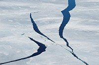 Cracks in Pack ice  Weddell Sea, Antarctic Peninsula, Antarctica