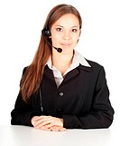 young callcenter agent lady