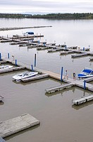 Gull Harbour Marina on Lake Winnipeg, Hecla Island, Manitoba, Canada