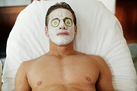 Man Receiving Facial