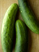 Close up of cucumbers