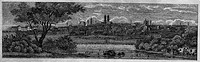 geography/travel, Germany, Munich, view from East, wood engraving, 19th century,