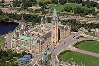 Aerial view, Parliament Hill, Ottawa