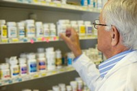 Senior Man Buying Medication