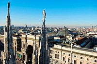 Panoramic view of Milan