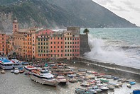 Sea storm in Camogli