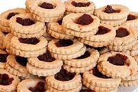 homemade jam pastries closeup