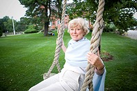 Senior Woman on Swing