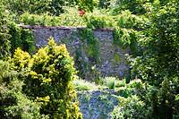 Europe, Austria, Carinthia, Klagenfurt am Worthersee, Old Town Wall, Stadtgraben Park.