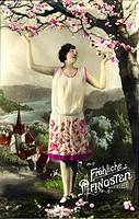 kitsch / souvenir, greetings card, Happy Whitsun, Germany, picture postcard, 1933,