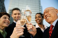 Businesspeople Toasting Champagne
